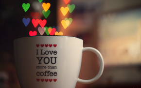 love, cup, lights, hearts, bokeh