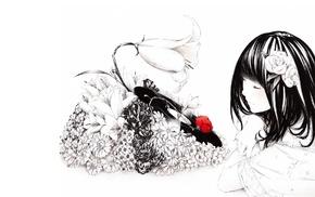 drawing, mood, anime, music, girl