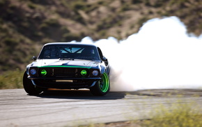 drift, Ford, cars, smoke, Ford Mustang