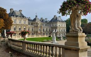 Франция, деревья, цветы, парк, города, замок