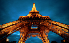 Eiffel Tower, France, cities, architecture, Paris