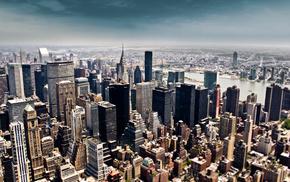 skyscrapers, sky, height, New York City, cities
