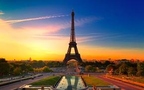 Eiffel Tower, cities, France, Paris, city