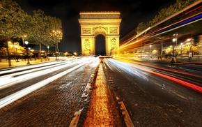 cities, Paris, France, night