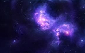 light, space, stars, galaxy