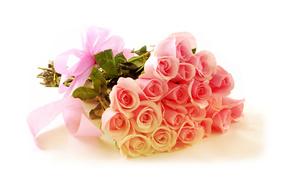 розы, нежные, цветы, Букет
