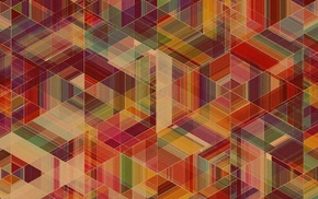 anime, pattern, geometry, abstract, Simon C. Page, colorful
