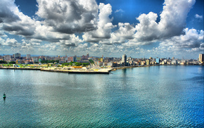 HDR, embankment, cities