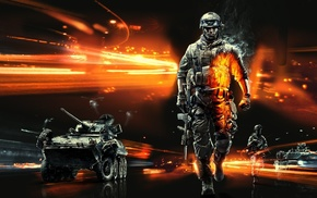 soldier, car, video games