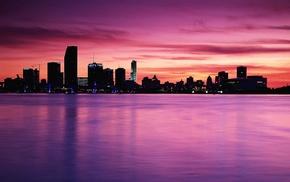 sky, cities, city, sea, water