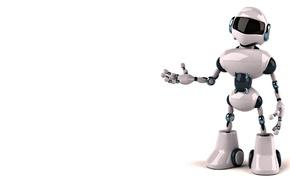 белый шлем, цифровые, белый фон, Робот