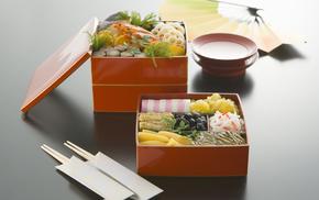 box, greenery, food, delicious, fish