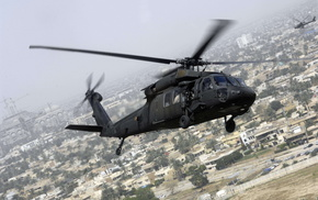 helicopter, city, fly, aircraft
