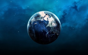 Earth, space, ball, planet