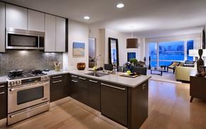 apartment, interior, city, kitchen, room
