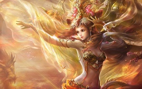 fantasy, art, decorations, girl, hairstyle