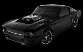 black, mustang, cars, auto