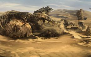 fantasy, sand, desert