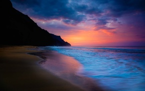 beach, waves, nature, sky, sea