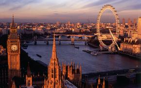 London, cities, Ferris wheel