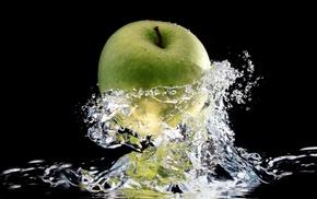 вода, вкусно, яблоко