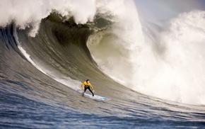 вода, сёрфинг, лето, море, спорт, волны