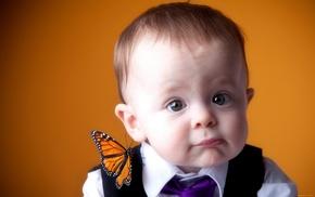 butterfly, children, kid