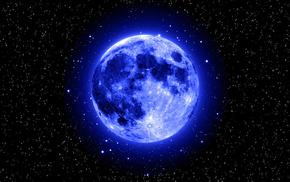 stars, space, moon