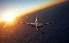 aircraft, airplane, Sun