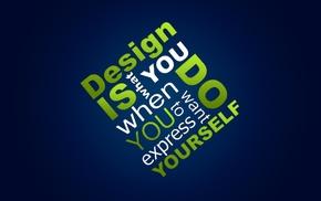 typography, blue background, web design