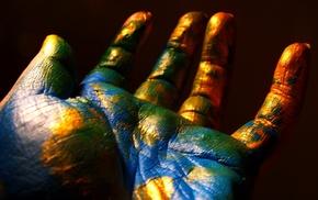 background, creative, hand, Earth