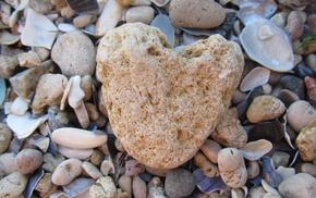 heart, stone, macro