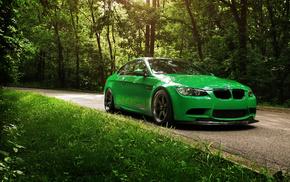 BMW, cars, green