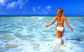 beach, sand, mood, Sun, girls