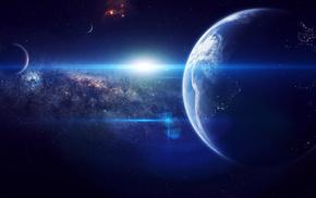 art, звезды, космос, земля, earth, планета
