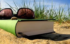 macro, book, rest, glasses, summer