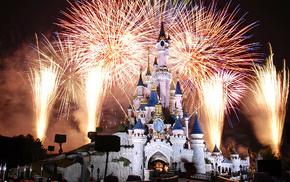 night, France, Paris, castle