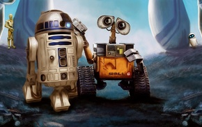 crossover, WALLE, movies, R2, D2, robot