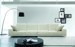 white, photo, couch, table