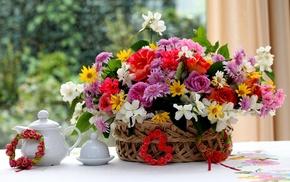 roses, flowers, bouquet