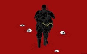 skull, Jin, Roh, armor, blood