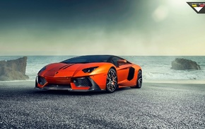 машина, Lamborghini Aventador, Ламборгини