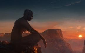spiritual, Aboriginal, Native Americans, Shaman, sunset, meditation