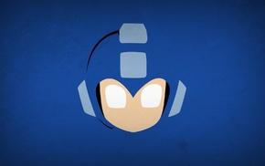 superhero, minimalism, Mega Man