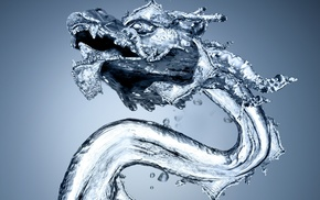 stunner, water, drops, dragon