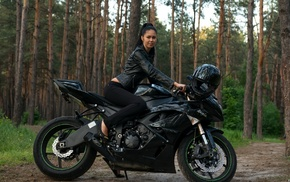 girl, motorcycles, bike