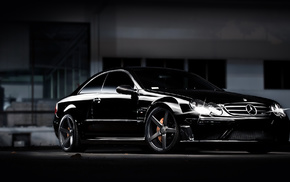 coupe, cars, black, Mercedes-Benz, tuning