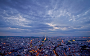 Paris, lights, cities, city, evening