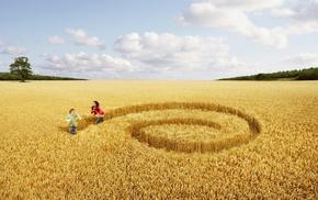 field, creative, girl, people, boy