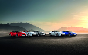 red, blue, Aston Martin, cars, color